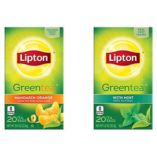 Green Kitchen Jeddah: Lipton Green Tea Bags, Mandarin Orange, 20 Count (Pack Of