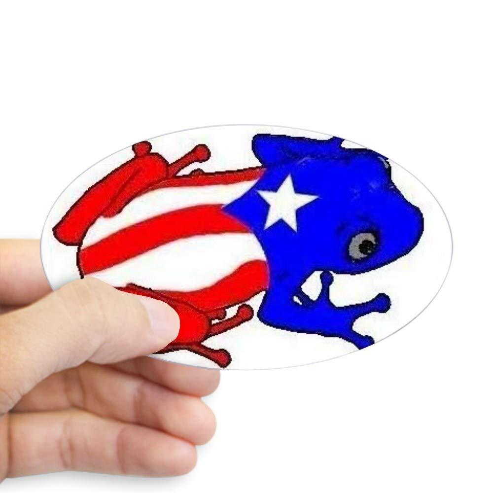 Amazon.com: CafePress – Puerto Rico Coqui Oval – Oval Bumper ...