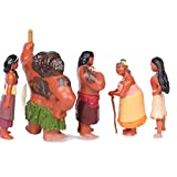 tongrou 12pcs Oceania Adventure Moana Maui Action Figures PVC Doll Toys Decor Set