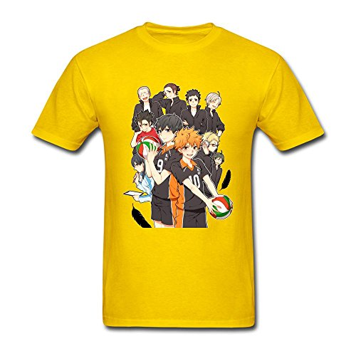 Tommery Men's Haikyuu Design Short Sleeve Cotton T (Shay Halloween Chicago)