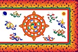 Cheap magFlags Large Flag Reconstruction of the Flag of Sikkim in use from 1877 to 1914 and from 1962 to 1967   landscape flag   1.35m²   14.5sqft   90x150cm   3x5ft – 100% Made in Germany – long