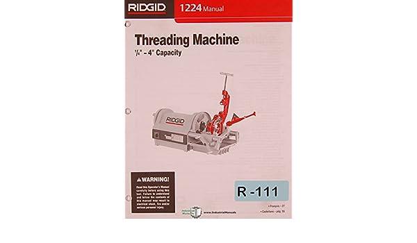 ridgid 1224 threader parts manual