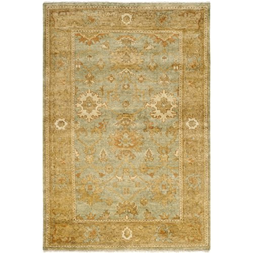 Safavieh Oushak Collection OSH115C Hand-Knotted Dark Green and Brown Wool Area Rug (4' x 6') (Oushak Green)