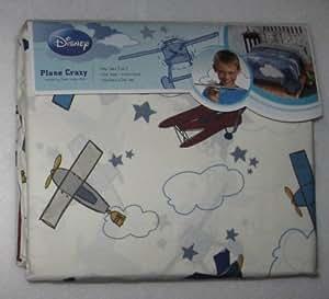 Disney Plane Crazy Twin Sheet Set