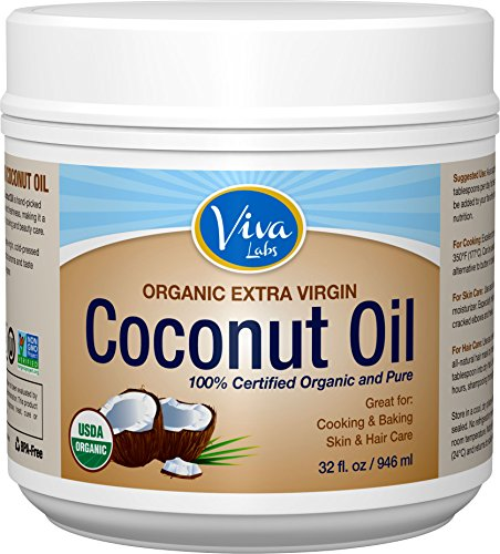 Viva Labs Organic Extra Virgin Coconut Oil, 32 Ounce (Coconut Oil Pure Extra Virgin compare prices)