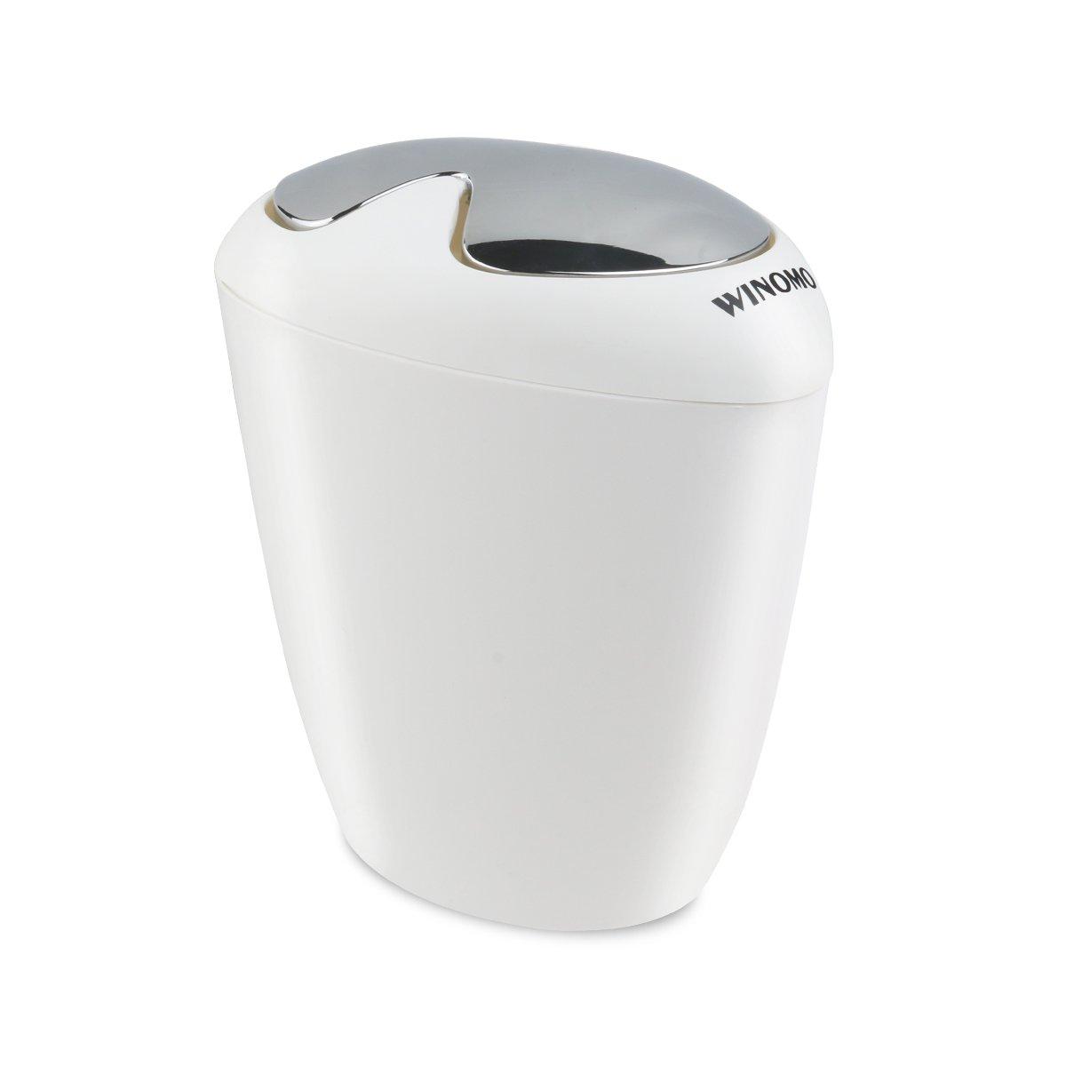 Amazon: Winomo Bathroom Trash Can 65 Liter 175 Gallon Trash With Swing  Lip: Home & Kitchen