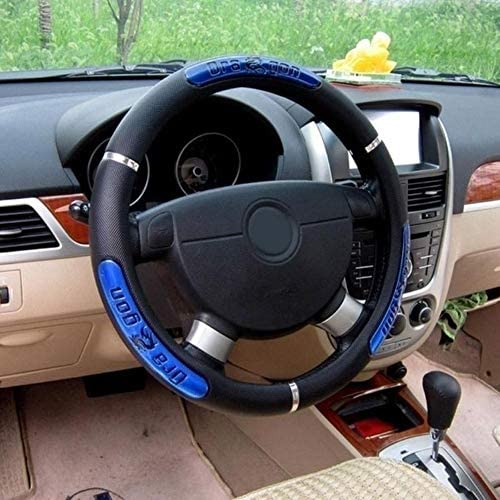 HUANSI Universal Car Steering Wheel Cover 15 inch Dragon Pattern Comfort Durability Breathable Anti-Slip Protector Covers