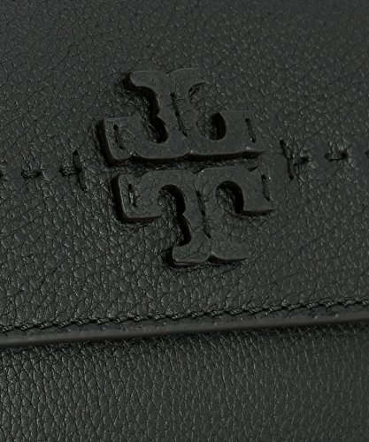Schwarz Leder Schultertasche Burch Tory 40410001 Damen AqxwISt8