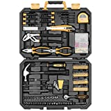 DEKOPRO 196 Piece Tool Set General Household Hand Tool Kit with Rip Claw Hammer,Lineman's Plier, Measure Tape Rule & Plastic Toolbox Storage Case …