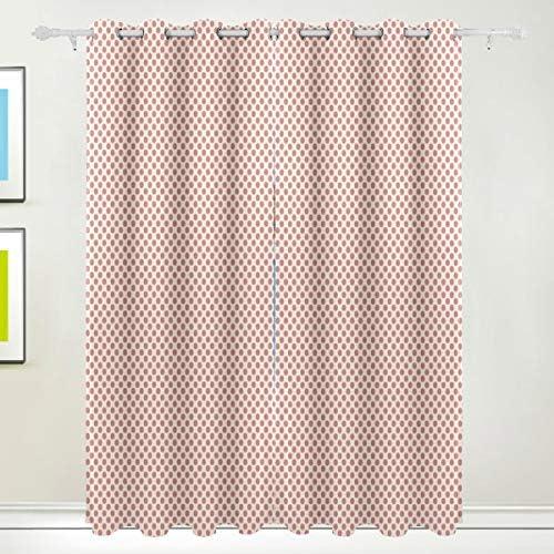 YOLIKA Blackout Curtains,Repetitive Polka Dots Minimalistic Tender Ornaments Illustrationchampagne Living Room Bedroom Window Drapes 2 Panel Set,W108 xL108