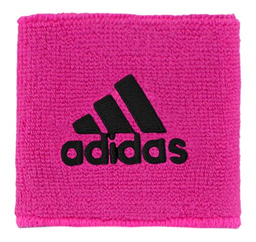 adidas Interval Reversible Wristband, Shock Pink/Black, One -