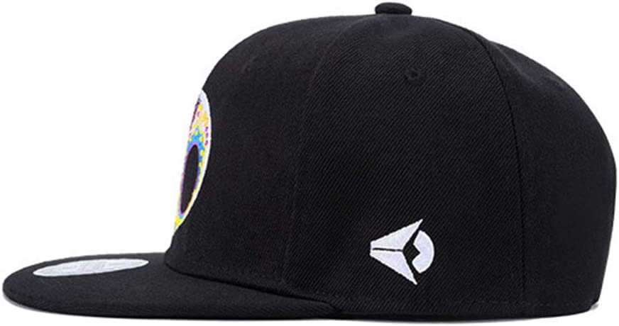 Fashion Personality Color Skull Embroidery Hip Hop Hat Men and Women Flat Hat YXKL Hip Hop Hat