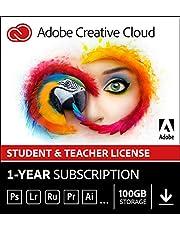 Adobe Creative Cloud All Apps   Student & Teacher   1 Year   PC/Mac   Download