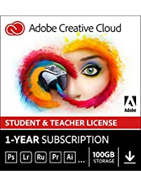 Adobe Creative Cloud Student and Teacher Edition Prepaid Membership 12 Month (Download) - Validation Required