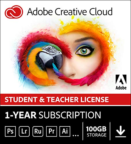 Adobe Creative Cloud Student and Teacher Edition Prepaid Membership 12 Month (Download) - Validation Required by Adobe
