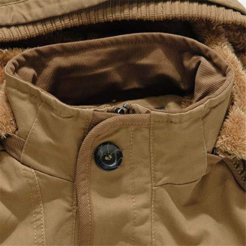 Sintetica Ntel Parka Dunkelblau Interna Outdoor Pelliccia In Da Cappuccio Felpa Outwear Uomo Adelina Fodera Spessa Caldo Cotone Coat Con Invernale vWRHgPnU