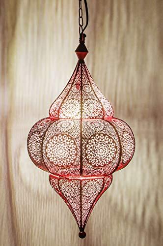 Marrakesch – Lámpara colgante ROSA Malha 48 cm E14 portalámparas, marroquí Lámpara de techo de Marruecos | Orient lámpara de diseño para salón cocina ...