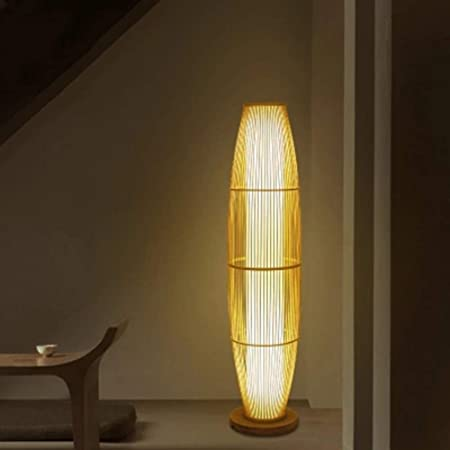 PANGU-ZC Lámpara de pie - Lámpara de pie Sala de Estar Zen ...