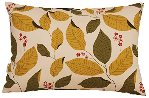 TangDepot Decorative Handmade Floral Leaf Throw Pillow Cover