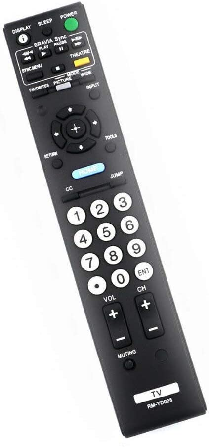 Calvas New RM-YD025 Remote Control For Sony KDL40S504 KDL40S5100 KDL40SL150 KDL40V5100 KDL-40S4100 KDL-32L4000 KDL-37L4000 TV