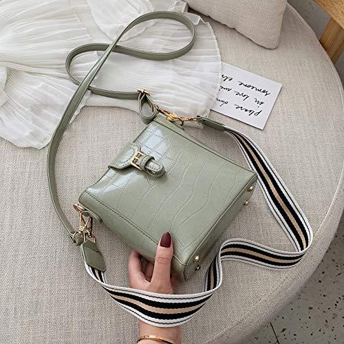 BAOBAOTIAN Bucket Bag Female New Korean Fashion Single Shoulder Messenger Bag Girl Stone Pattern Small Bag
