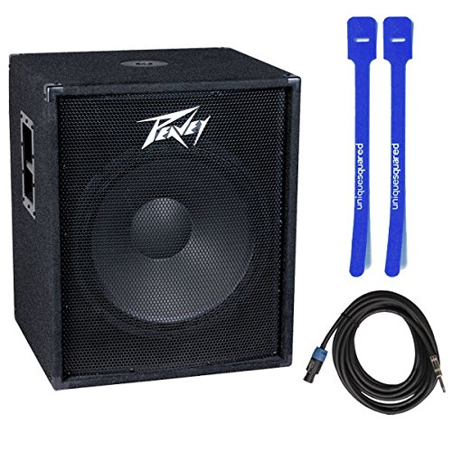 Peavey Pv118 Single 18'' Subwoofer Sub Passive Pa w/ Speakon to 1/4'' Cable & Cable Ties by Peavey