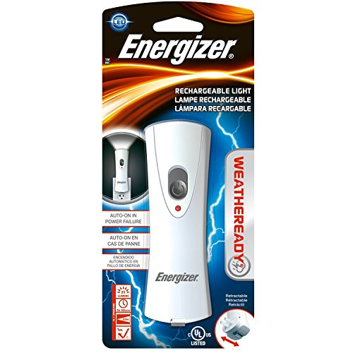 (Energizer RCL1NM2WR Weatherready Compact Rechargeable Led Light, White - 2 Pack)
