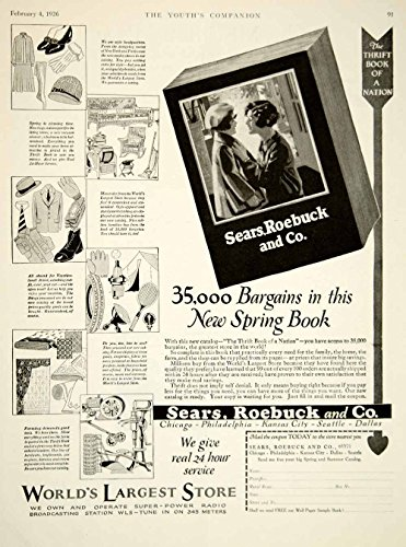 1926 Ad Sears Roebuck Catalog Department Store Retail Roaring Twenties Era YYC6 - Original Print Ad from PeriodPaper LLC-Collectible Original Print Archive
