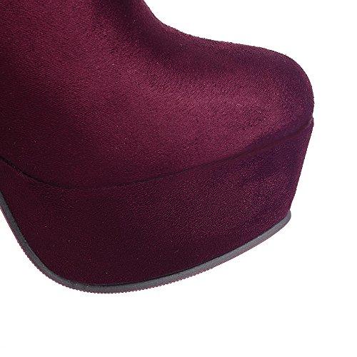 Mid HSXZ botines botas para invierno moda vestirse Zapatos Toe Round Calf otoño mujer de Blue hebilla botines Bota polar botas Stiletto botas talón T8pZxT