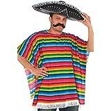 Fiesta Cinco De Mayo Striped Multicolored Fabric Serape | Party Costume