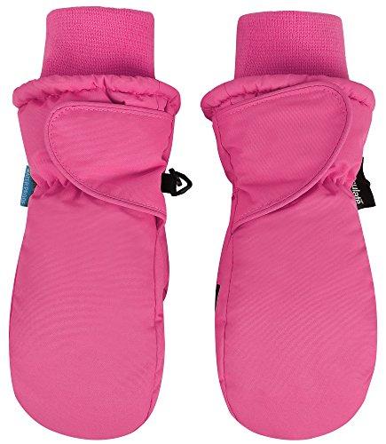 SimpliKids Boy's Snow Sports 3M Thinsulate Waterproof Winter Mittens Gloves,S,Fuchsia
