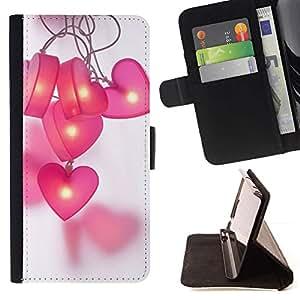 Momo Phone Case / Flip Funda de Cuero Case Cover - Gris Motif Violet Noir - Apple Iphone 6