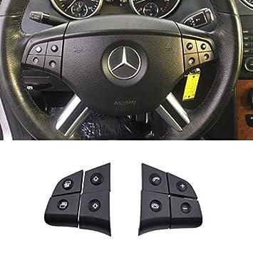 TTCR-II Steering Wheel Switch Control Buttons For Mercedes Benz W164 ML320 ML350 ML400 ML430 ML500 ML550 ML63 2006//2007//2008 X164 GL320 GL350 GL450 GL550 GL63 2007//2008 8 pcs, Black