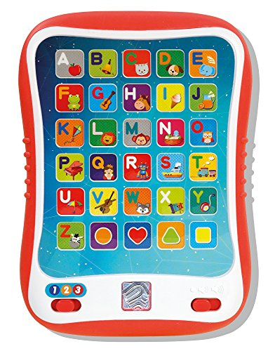 Learning Tablet for Kids, Toddler Educational ABC Toy, Learn Alphabet Sounds, Shapes, Music and Words - Early Development Electronic Activity Game (Best Children's Learning Tablet)