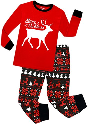 Boys Pajama Children Christmas Pajamas Reindeer Toddler Girls Sleepwear Cloth Set 5Y -