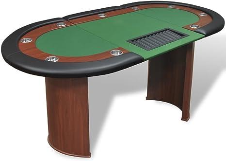 vidaXL Mesa de póker 10 Jugadores con área de Reparto Bandeja ...