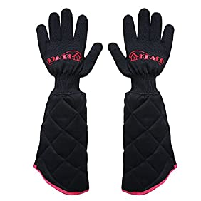 Revolutionary Multifunction Extreme Professional Heat Resistant Gloves,Kpaco Magic Oven Gloves Hot Gloves Barbecue Gloves,Flexible Heat Kitchen Gloves and Flame Cut Resistant Gloves (PAIR) - Black