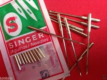 Agujas Singer para máquina de coser, tamaños 14 (90/14), 16 (100 ...