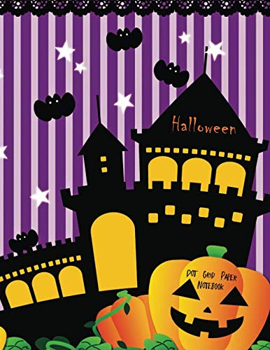 Halloween Dot Grid Paper Notebook -
