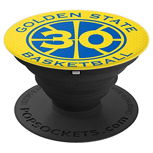 PopSockets: Golden State Basketball Number 30 Legend - PopSockets Grip and Stand for Phones and Tablets