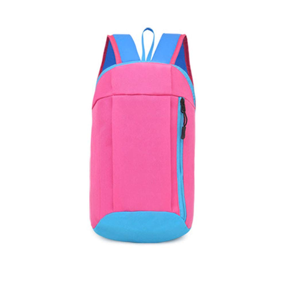 Tantisy ♣↭♣ Backpack Men Women UnisexTrunk Shape Canvas Lightweight Packable Durable Travel Hiking Daypack Hot Pink by Tantisy ♣↭♣ (Image #1)