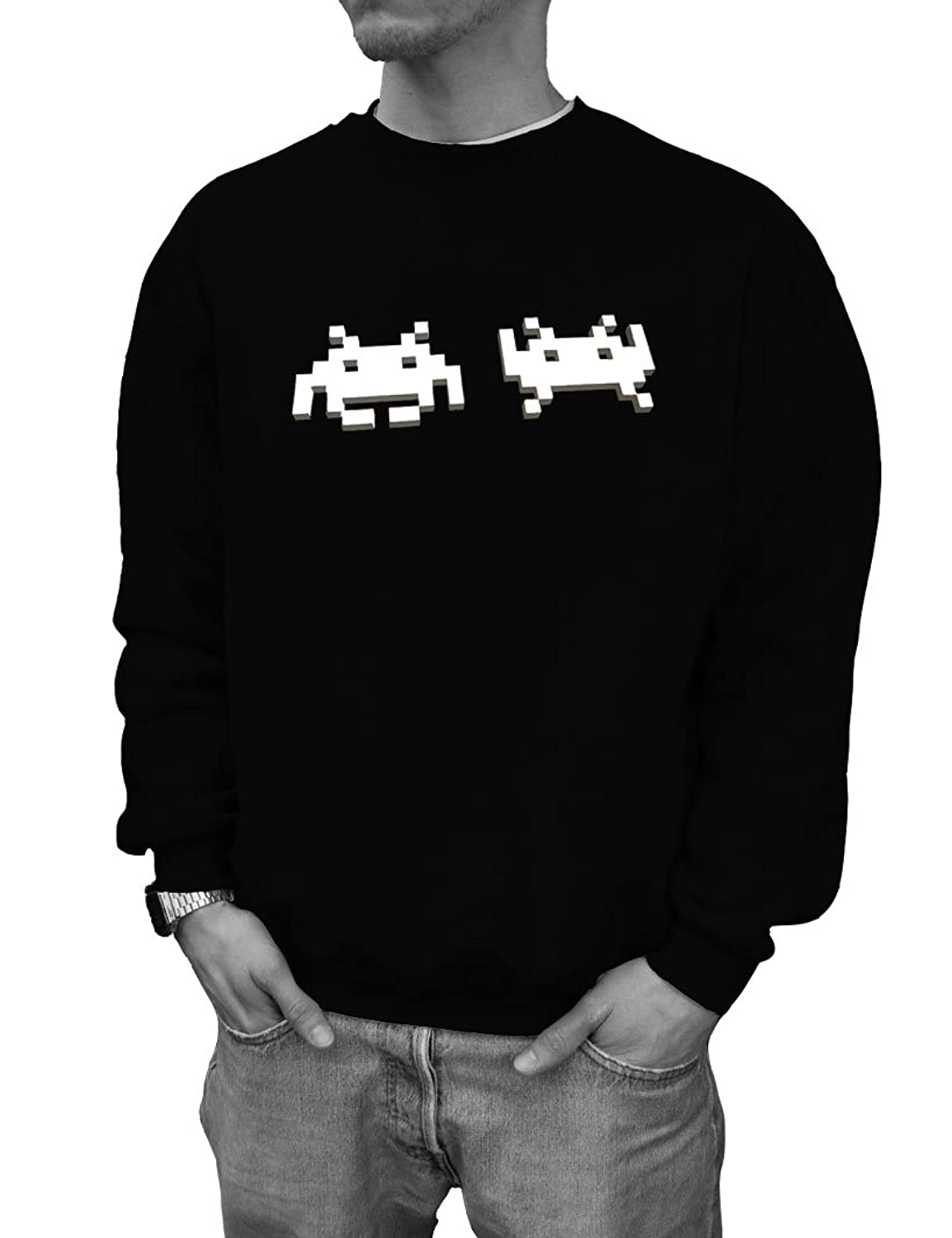 """SPACE INVADERS"" VERSION 3 C64 Designer Pullover Black Wizuals Gr??e S schwarz"