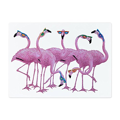 Glass Cutting Board Large Cool Flamingos with - Ban Sign Ray