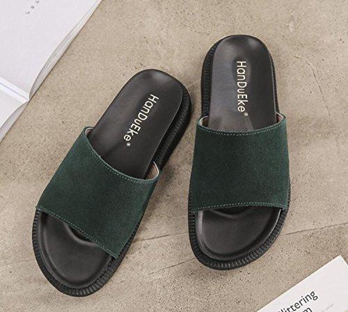 Printemps Chaussures Mode Noir Femmes Anti achats Blanc 43 34 Pantoufles Été Sandales DANDANJIE Green Étudiant Vert Confort Dérapant Extérieur Tongs YPnSqqW