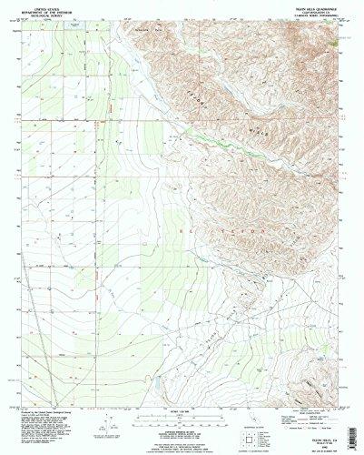 Tejon Hills CA topo map, 1:24000 scale, 7.5 X 7.5 Minute, Historical, 1992, updated 1995, 26.8 x 21.5 IN - - Tejon Ca