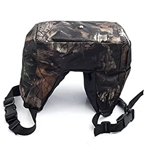 Movo Photo THB01 Camouflage Camera Lens Bean Bag with Head Mounting Plate - Mossy Oak (Junior)