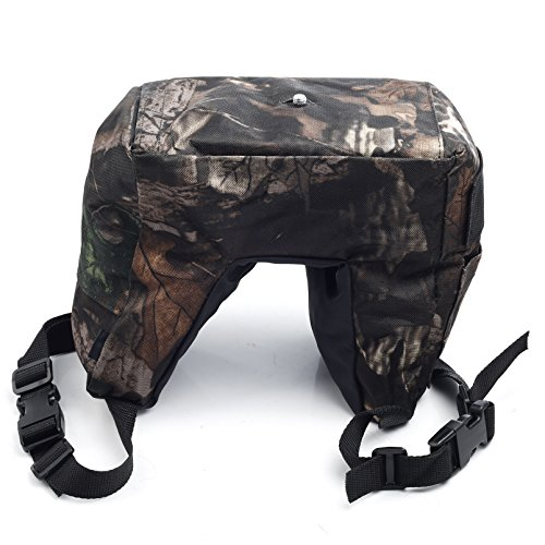 Movo Photo THB01 Camouflage Camera Lens Bean Bag with Head Mounting Plate - Mossy Oak (Junior) (Camera Bean Bag)