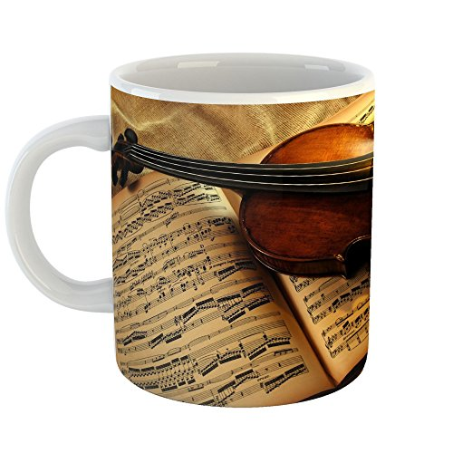 Concerto Coffee Gift (Westlake Art - Violin Instrument - 11oz Coffee Cup Mug - Modern Picture Photography Artwork Home Office Birthday Gift - 11 Ounce (BE44-D28B9))