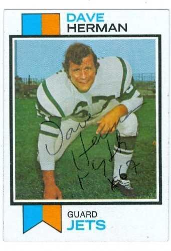 Dave Herman autographed Football Card (New York Jets) 197...