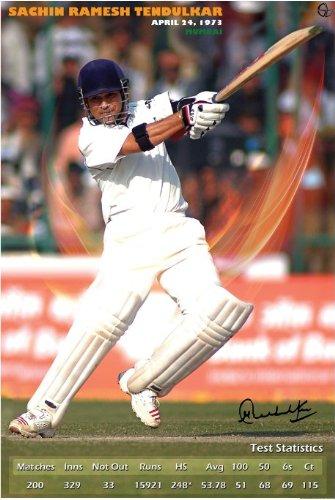 Sachin Tendulkar – Test Stats with Digital Signature (30.48 cm x 45.72 cm)